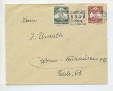 1935 3. Reich Reichsparteitag Nürnberg Satzbrief MI 586, 587 SST RPT Nürnberg - Briefe U. Dokumente