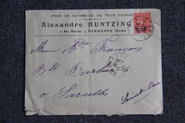 Enveloppe Timbrée Publicitaire - NARBONNE, Alexandre HUNTZINGER, Pose De Carreaux De Tous Genres. - Lettres & Documents