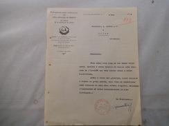 SAINT NICOLAS DE PORT ASSOCIATION AMICALE DES SOUS OFFICIERS DE RESERVE DU CANTON COURRIER DU 2 MAI 1937 LE PRESIDENT - Documents