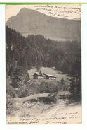 CPA-1903-SUISSE-CHALETS SUISSE-VOIR TIMBRES ET CACHETS BOUVERET- - VS Valais