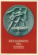 1938, Propagandakarte Reichsparteitag 1938, Sonderstempel NÜRNBERG 8.9.38 - Cartas