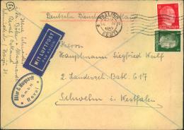 """1943, Privatbrief """"""""Deutsche Dienstpost Ostland"""""""" Ab TALLINN, Estland Per Luftpost. Seltene 17 Pfg. Frankatur. - Besetzungen 1938-45"""