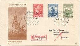 Denmark First Direct Flight Stockholm - Moscow 9-5-1956 - Dänemark