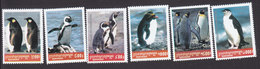 Cambodia, Scott #2114-2119, Mint Hinged, Penguins, Issued 2001 - Cambodge