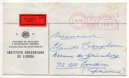 Portugal--1979--Lettre EXPRES De Lisbonne Pour CONDOM-32 --EMA Instituto Gregoriano --cachets - 1910-... République