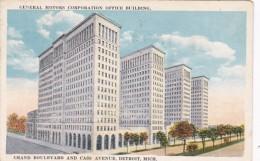 Michigan Detroit General Motors Corporation Office Building 1924