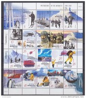 AAT 2001 Australians In The Antarctic 20v In Sheetlet ** Mnh (F5749) - Australian Antarctic Territory (AAT)