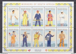 South Africa 1999 Workers Of South Africa 10v In Sheetlet ** Mnh (F5988D) - Zuid-Afrika (1961-...)