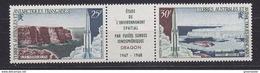 TAAF 1968 Dragon Strip 2v + Label ** Mnh (34827N) - Ongebruikt