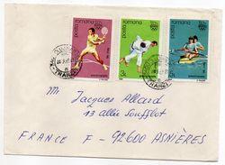 Roumanie--1989--Lettre De Cluj Pour Asnières-92 (France)--timbres Préolympique J.O Séoul (tennis,Judo,aviron) - 1948-.... Républiques