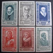 LOT BP/175 - 1943 - PERSONNAGES CELEBRES - N° 587 à 592 NEUFS** - Cote : 15,00 € - Unused Stamps