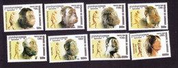 Cambodia, Scott #2150-2157, Mint Hinged, Human Evolution, Issued 2001 - Cambodia