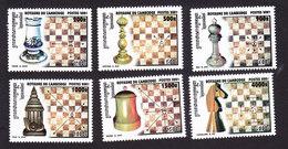 Cambodia, Scott #2159-2164, Mint Hinged, Chess, Issued 2001 - Cambodia