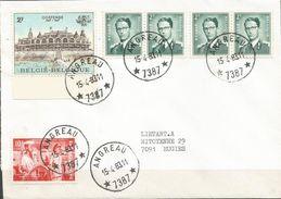 """1967 - 3 Lettres Avec Oblitération Relais """"ETOILES"""" - Poststempel"""