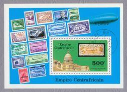 Central Africa Empire Centrafrican 1977 Zeppelin Stamps S/s Zeppelins Stamps On Stamps CTO US Capitol - Zeppeline