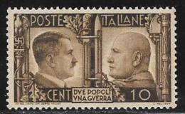 Italy, Scott # 413 Unused No Gum Rome-Berlin Axis, 1941 - 1900-44 Victor Emmanuel III