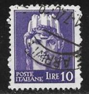 "Italy, Scott # 452c Used Unwatermarked ""Italia"", 1945 - 5. 1944-46 Lieutenance & Umberto II"