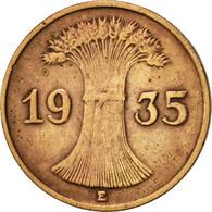 Allemagne, République De Weimar, Reichspfennig, 1935, Muldenhütten, TTB - 1 Rentenpfennig & 1 Reichspfennig