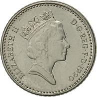 Grande-Bretagne, Elizabeth II, 5 Pence, 1990, SUP, Copper-nickel, KM:937b - 1971-… : Monnaies Décimales