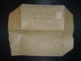 LETTRE (2ème ECHELON IMPRIME) TP 4c X2 + TP 2c OBL.7 5 07 NOUMEA - Neukaledonien