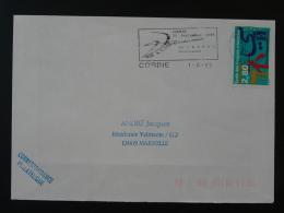 80 Somme Corbie Championnat De France Tir à L'arc Archery 1995 - Flamme Sur Lettre Postmark On Cover - Boogschieten