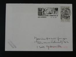 85 Vendée Les Herbiers Moulin Windmill Gaz 1987 - Flamme Sur Lettre Postmark On Cover - Moulins