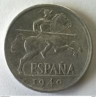 Monnaies - Espagne - 1940 - 10 Centimos - - 10 Centimos