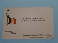 Souhaits PATRIOTIQUES ( De Prompt Retour Au CHER PAYS ) V D KUYLEN Amsterdam 1916 ( Zie Foto Details ) !! - Patrióticos