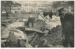 PARIS CRUE DE LA SEINE JANVIER 1910 RUE LAFAYETTE UN EFFONDREMENT - Alluvioni Del 1910