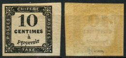 France Taxe N° 2 Neuf * Signé A.Brun - Cote 60 Euros - TB Qualité - 1859-1955 Nuevos