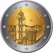 Litauen 2017 Vilnius Hauptstadt Stadt Kunst Gedenkmünze 2 Euro  1  ROLL IN STOCK - Rollos