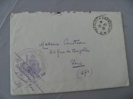 Le Treport Commissaire Militaire Et Le Treport A Abancourt Poste Ferr  Cachet Franchise Postale Militaire  Guerre  39.45 - Marcophilie (Lettres)