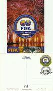 QATAR YEAR 2004 POST CARD - 100 YEARS OF FIFA , FOOTBALL / SOCCER / SPORTS FEDERATION - Qatar