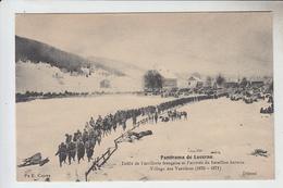 RT30.010   SUISSE.PANORAMA DE LUCERNE.DEFILE   ARTILLERIE FRANCAISE ARRIVEE DU BATAILLON BERNOIS.VILLAGE DES VERRIERES - LU Luzern