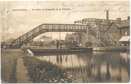 Saint-Ghislain NA13: Le Pont, La Passerelle Et La Verrerie 1914 - Saint-Ghislain