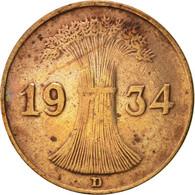 Allemagne, République De Weimar, Reichspfennig, 1934, Munich, TTB, Bronze - [ 3] 1918-1933 : Weimar Republic