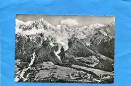 Les BOSSONS Vue De La Vallée -mont Blanc-aiguille Du Midi+aiguille Du Gouter- Années 50 -neuve-édition Jansol - France