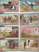 """CHOCOLAT KLAUS 10 Vignettes Chromo Publicitaires """"Postes Universelles"""" - Pubblicitari"""