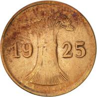 Allemagne, République De Weimar, Reichspfennig, 1925, Berlin, TTB, Bronze - 1 Rentenpfennig & 1 Reichspfennig