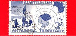 Territorio Antartico Australiano - AAT - Usato - 1957 - Australian Explorers And Map - Vestfold Hill - 2 - Territorio Antartico Australiano (AAT)