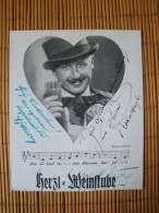 Alte Autogrammkarte Henry Cury De Pierron Kapellmeister, Graz, Glockenspielpl. 6/II. Mit Original Unterschrift - Autographs