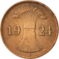 Allemagne, République De Weimar, Reichspfennig, 1924, Hamburg, TTB, Bronze - 1 Rentenpfennig & 1 Reichspfennig