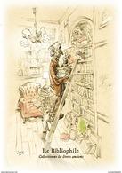 ILLUSTRATEUR MICHAËL CROSA LE SALON MULTI COLLECTIONS DE DRAGUIGNAN LE BIBLIOPHILE  DANS LA SERIE DES COLLECTIONNEURS - Künstlerkarten