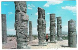 COLOSOS DE TULA - HGO - MEXICO   - NON  VIAGGIATA -  (1051) - FORMATO GRANDE - Messico