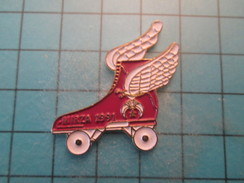 Pin1115a Pin's Pins : Rare Et Belle Qualité SPORTS / MIRZA 1991 PATIN A ROULETTES ROLLERS - Pin