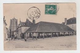 89 - SEIGNELAY / LE MARCHE ET L'EGLISE - Seignelay