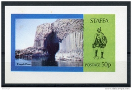 Staffa, Scotland, Fingale Cave, Landscapes, Scenery, MNH Imperforated Cinderella Sheet - Sellos