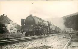 010917 -  PHOTO HERMANN - 241A78 HOTEL GOETZMAN - Chemin De Fer Train Loco - Estaciones Con Trenes