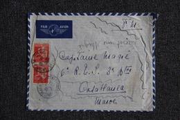 Enveloppe En Franchise Militaire Envoyée CLERMONT FERRAND à CASABLANCA Par Poste Aérienne - Marcofilie (Brieven)