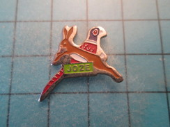 Pin1115a Pin's Pins : Rare Et Belle Qualité SPORTS / CHASSE GIBIER FAISAN LIEVRE JOZE - Pin's
